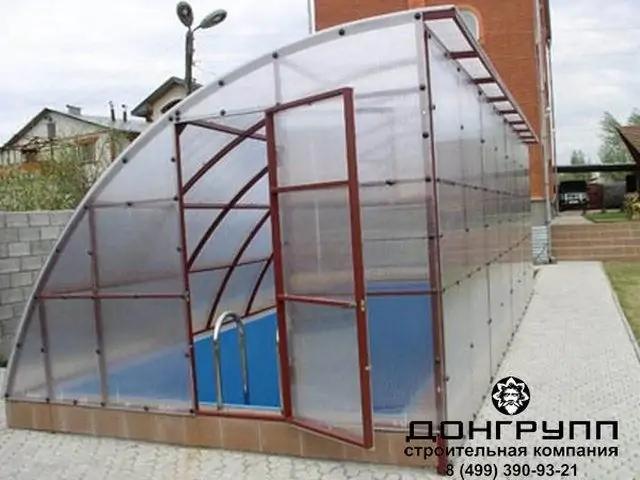навес для бассейна из поликарбоната2