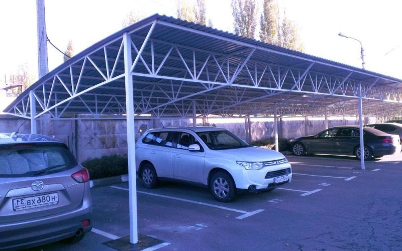 Навес для парковки из поликарбоната